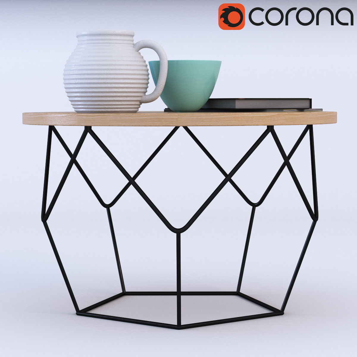 ... West Elm Origami Coffee Table 3d Model Max Obj Fbx Mtl 2 ...
