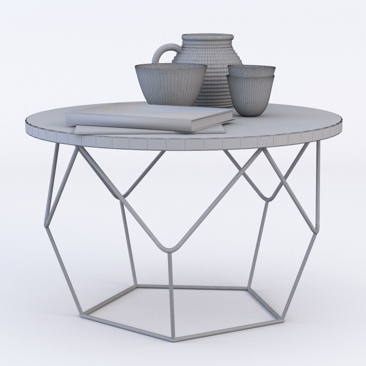 West elm Origami Coffee Table 3D model CGTrader