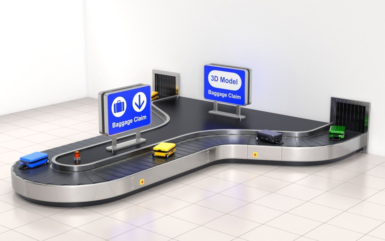 Airport Claim Transporter Y-form with Baggage