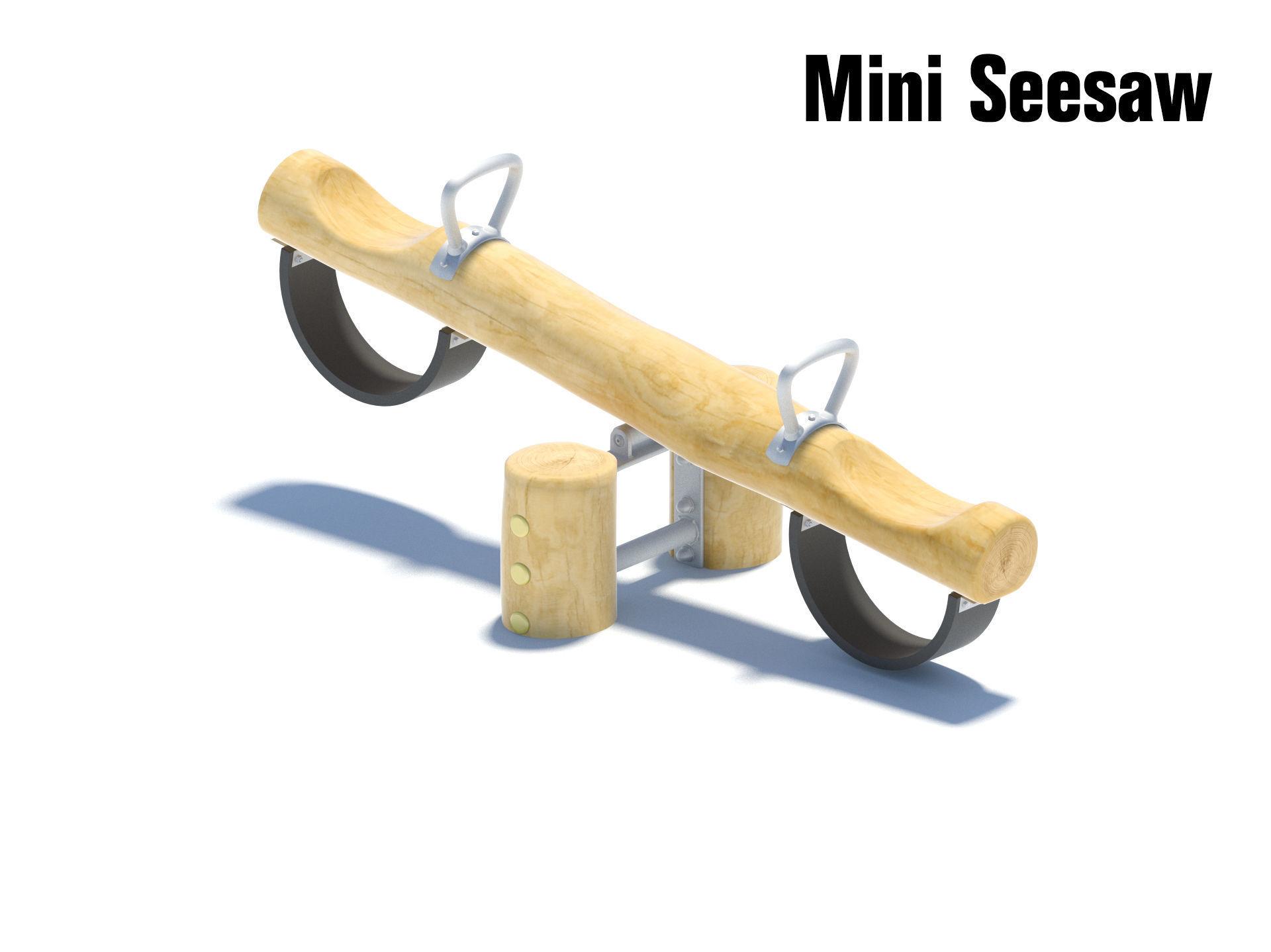 Wooden mini seesaw for small children