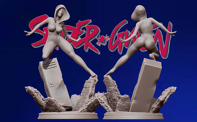 spider-gwen 3d print figure - into the spiderverse