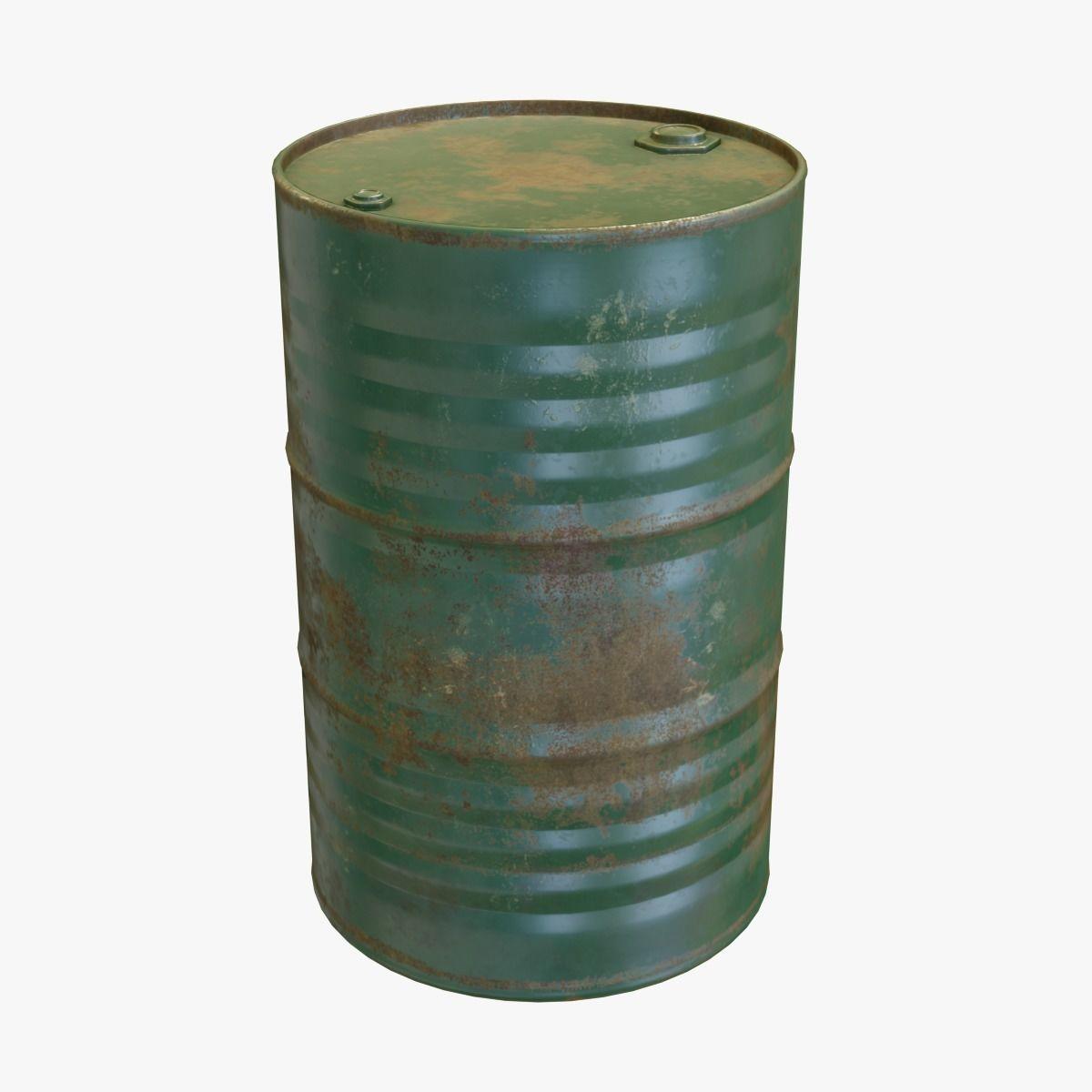 Green Oil Drum