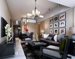 Fancy Living Room 3D model
