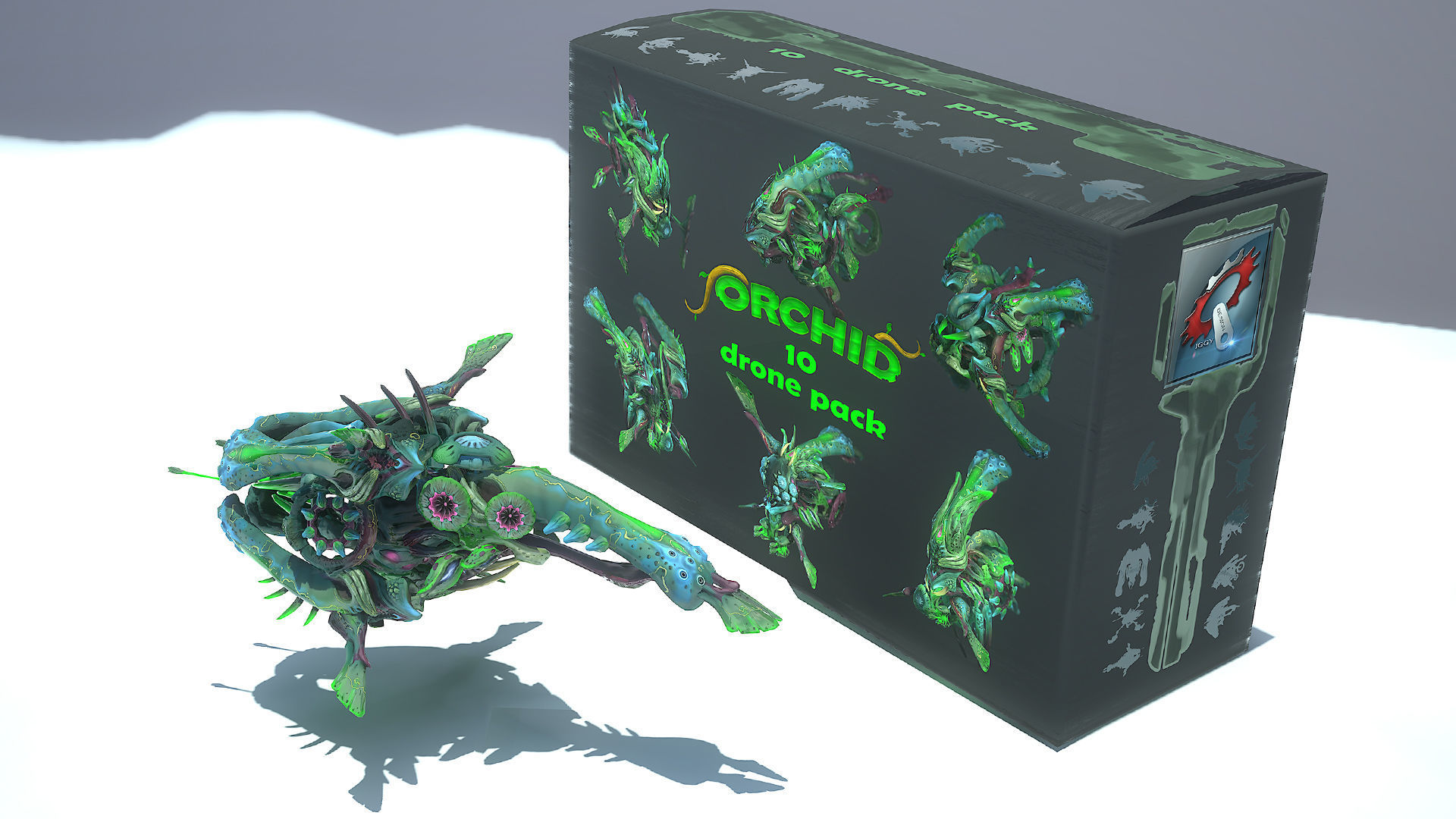 10 Drones - Orchid Pack - Lowpoly PBR