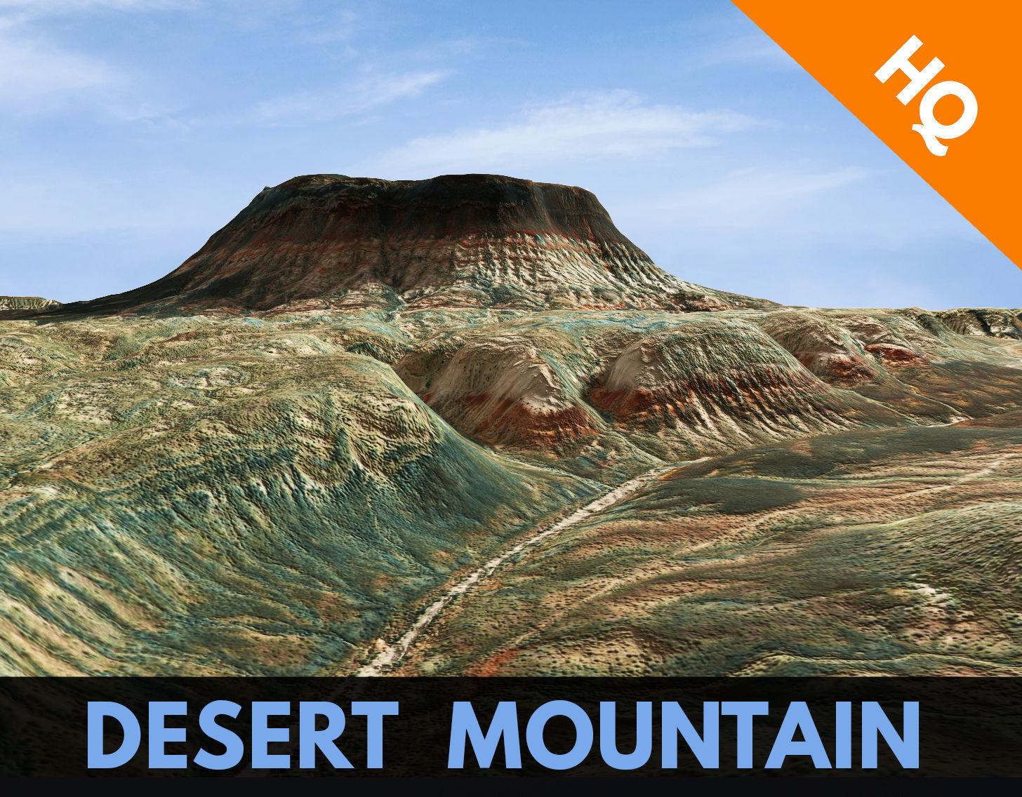 Mountain Desert Terrain Landscape Environment PBR 51