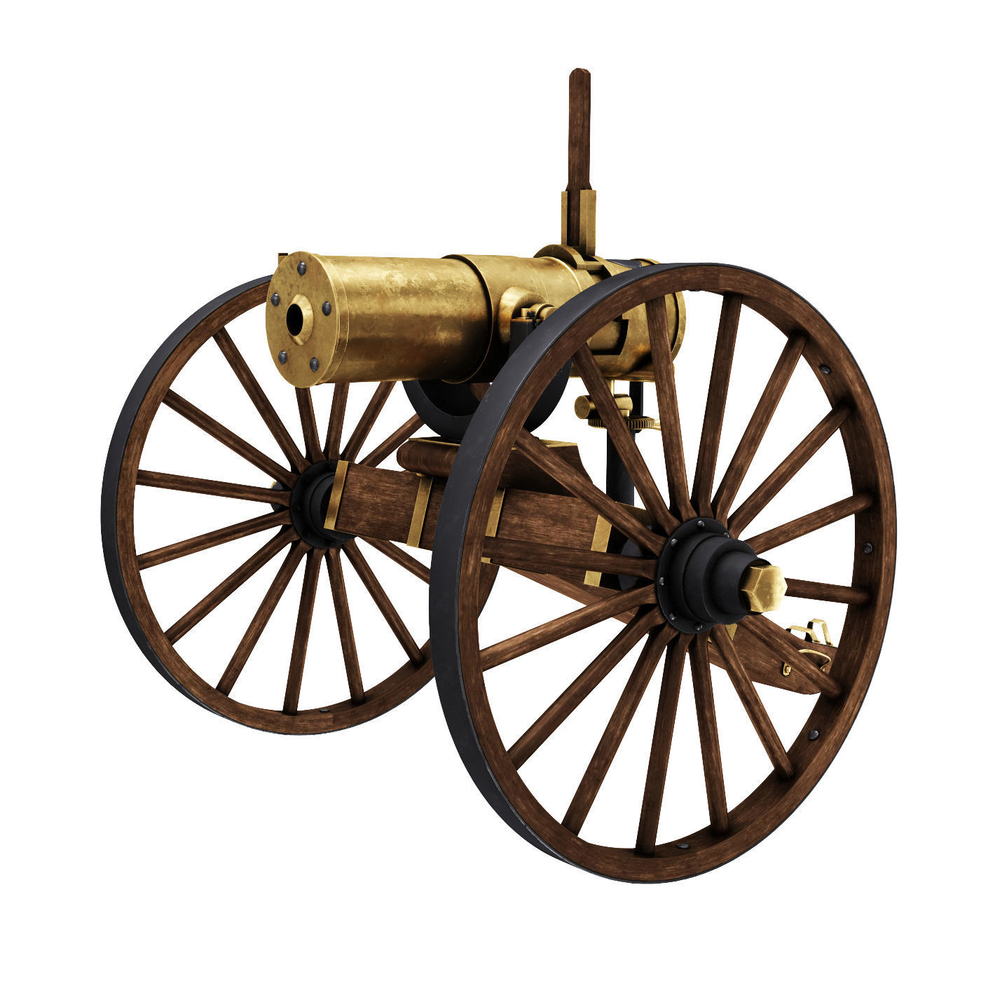 Old War Brass Cannon