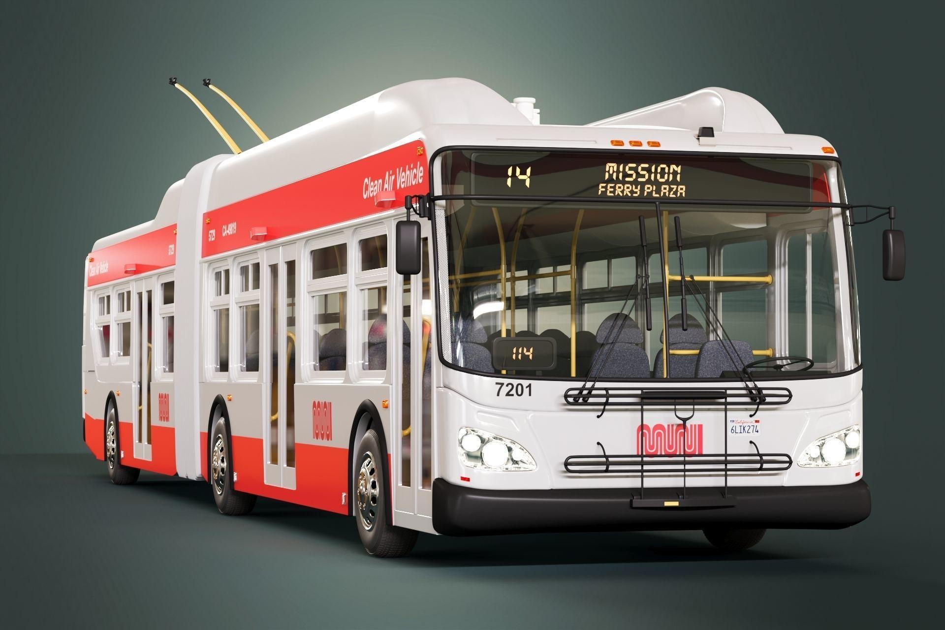 San Francisco Trolleybus SFMTA MUNI