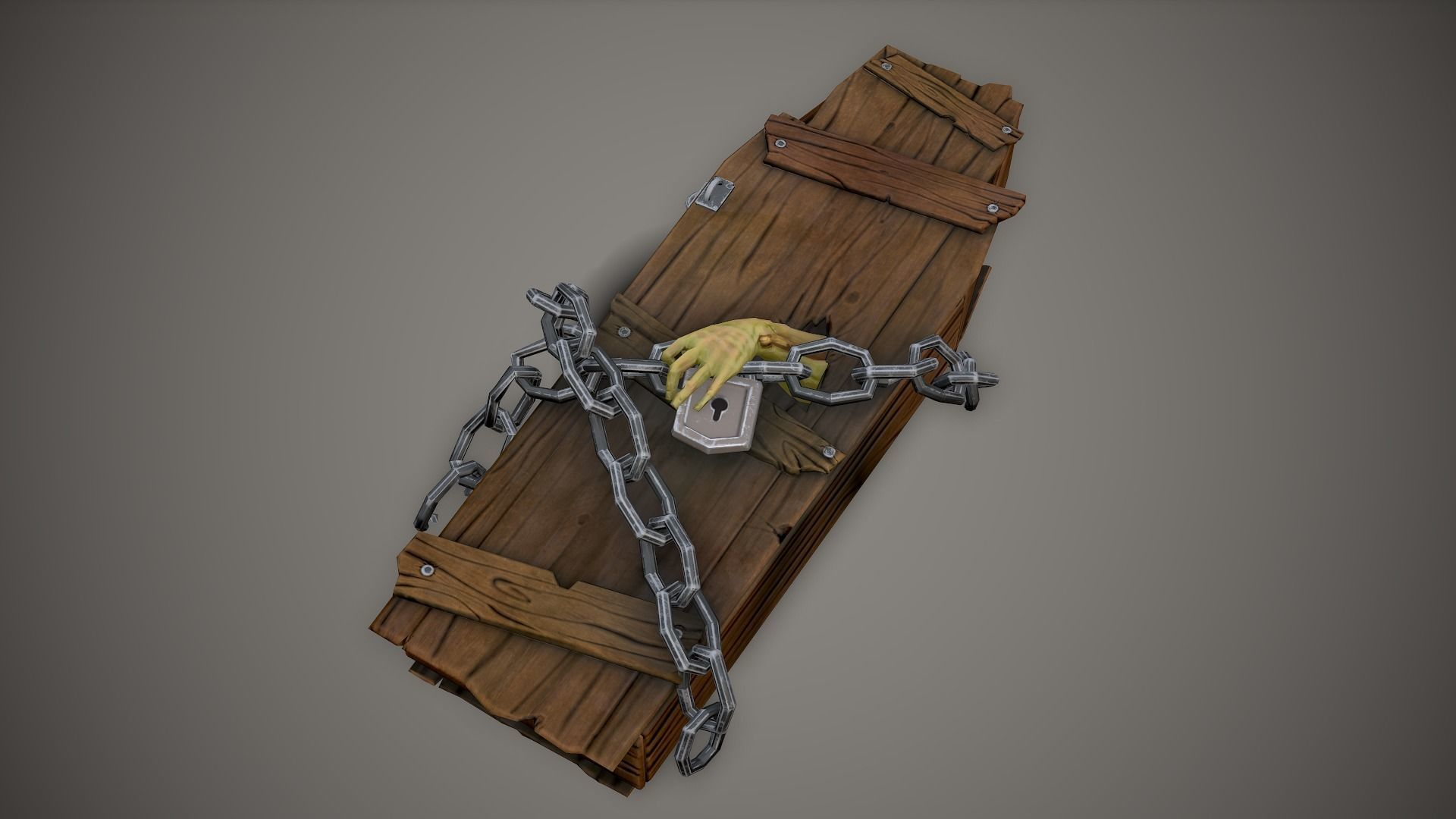 Stylized PBR Coffin