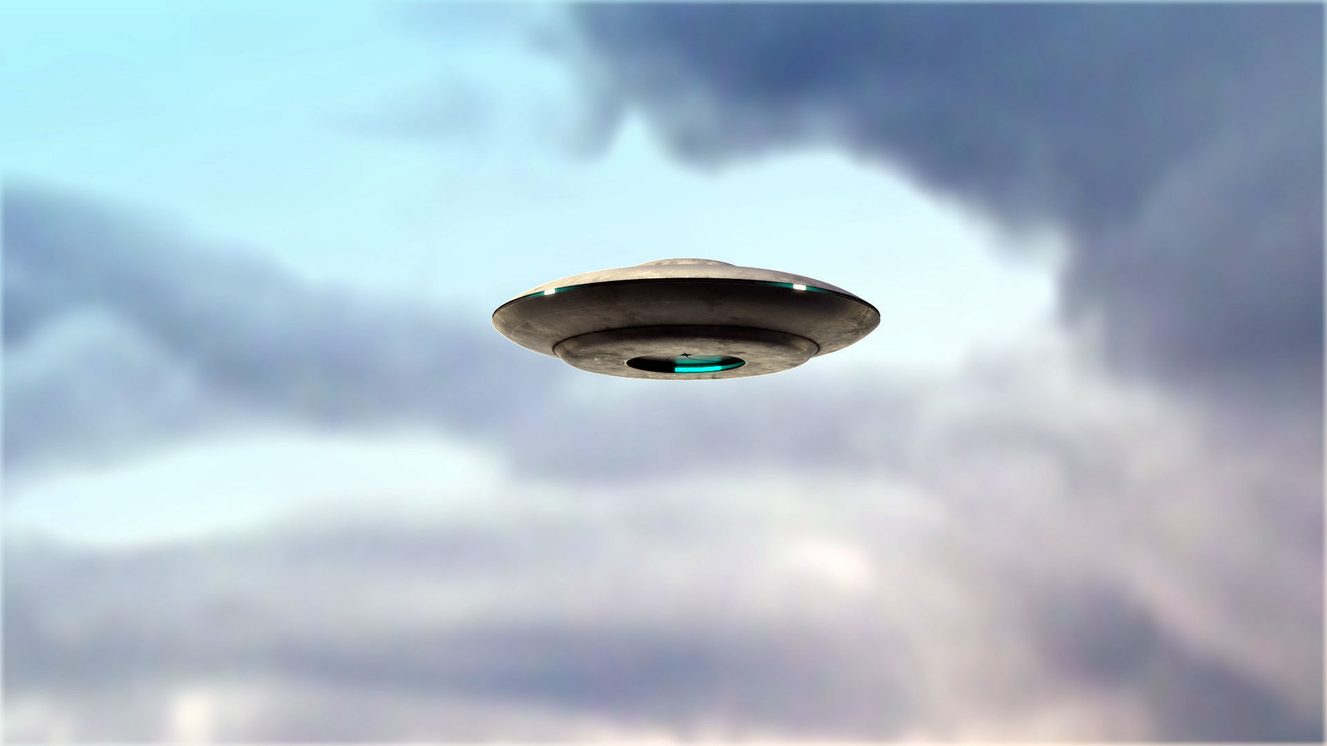 UFO rigged and animated