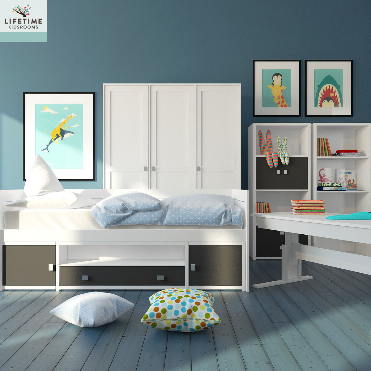 Kid Bedroom 3d Model Max 1