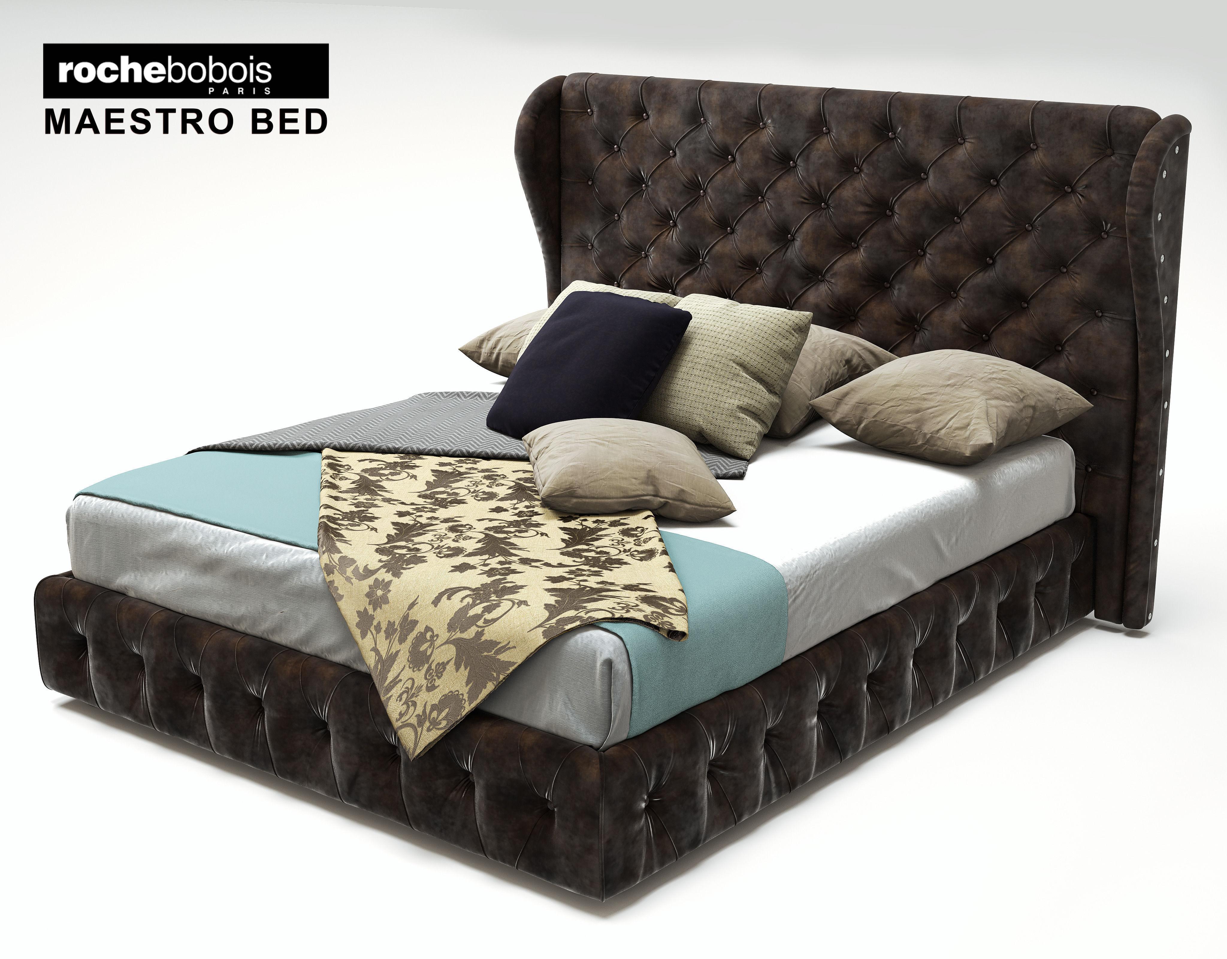 rochebobois-maestro-bed-3d-model-max-obj Unique De Table Basse Roche Bobois Occasion Des Idées