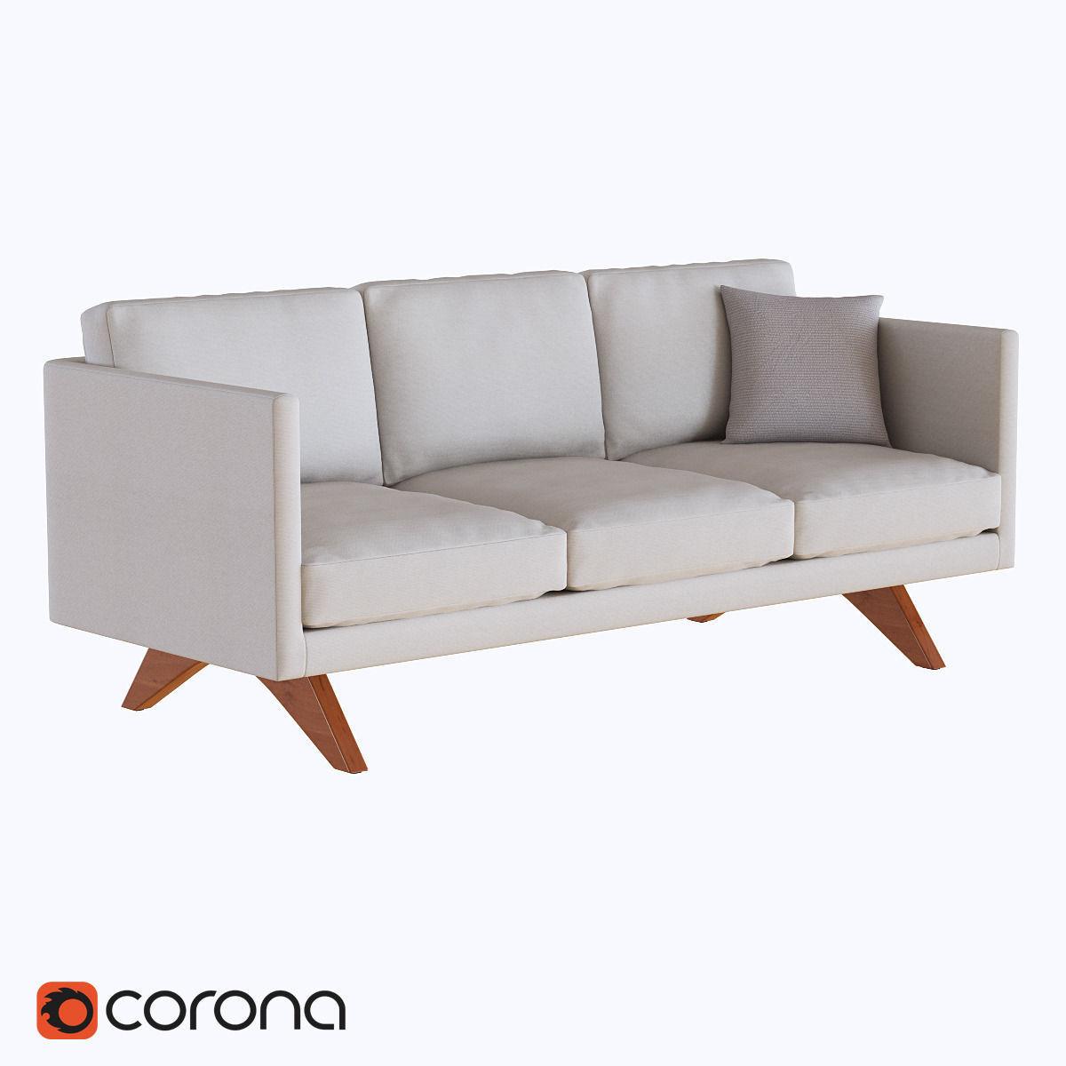 West Elm Brooklyn Upholstered Sofa Model Max Fbx 1