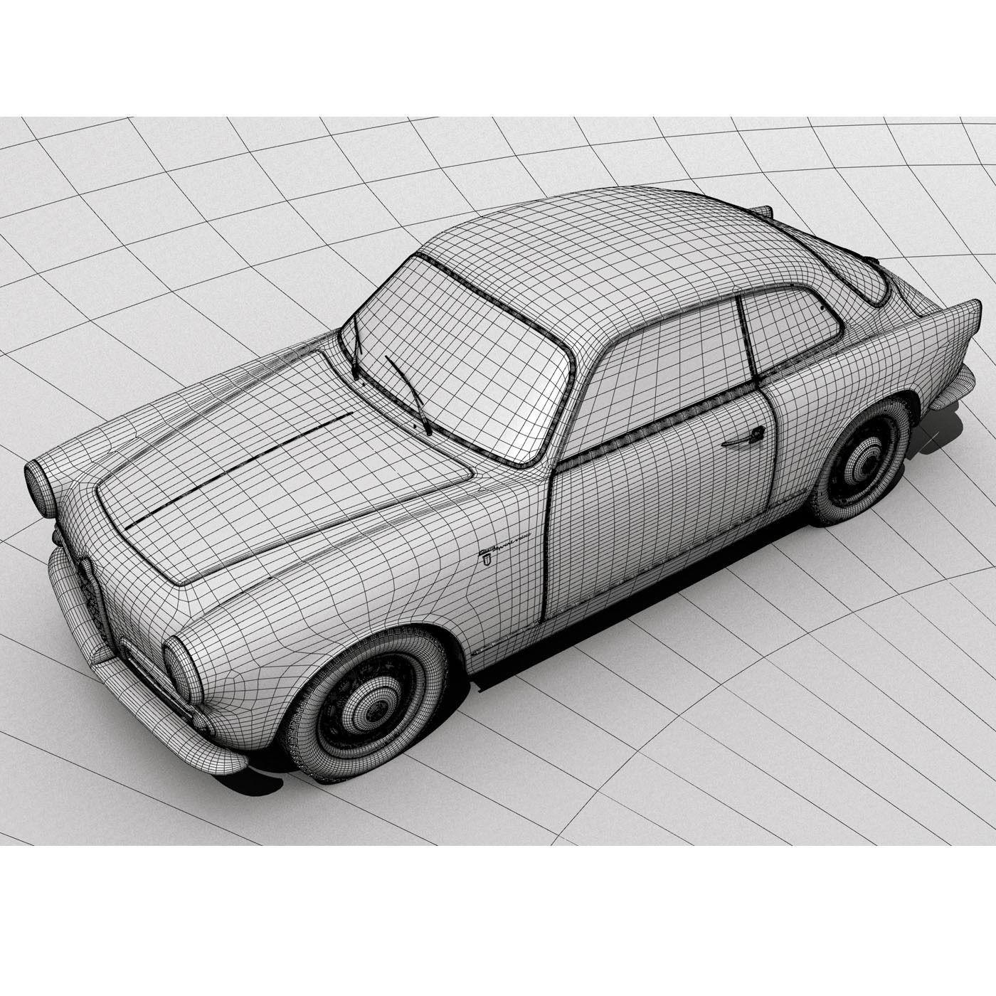 1958 Alfa Romeo Giulietta Sprint Veloce 3D Model MAX