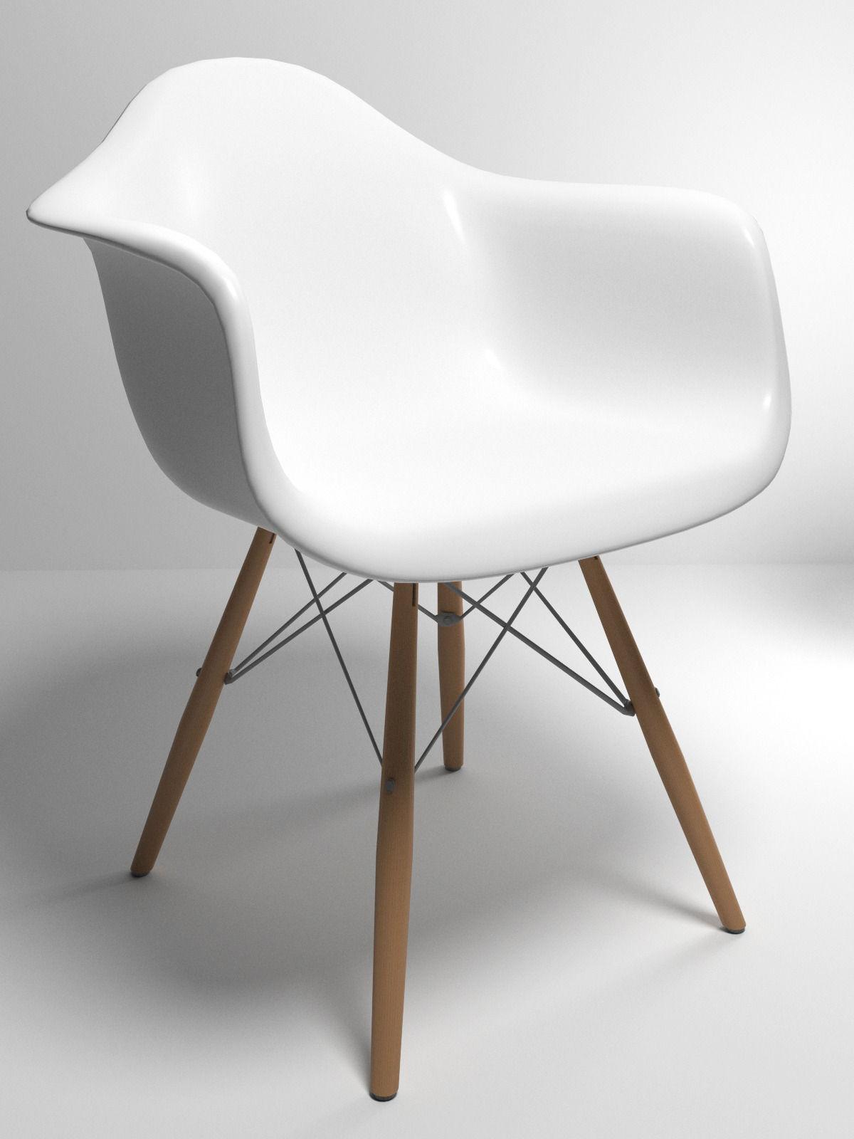 Eames Style Molded Plastic Chair 3d Model Max Obj 3ds Fbx Stl 1 ...