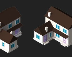 3d model 2d isometric buildings