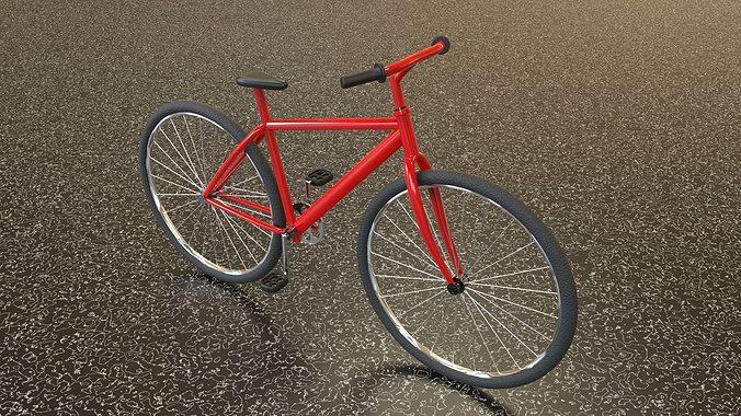 bicycle 3d model low-poly obj mtl fbx c4d stl 1