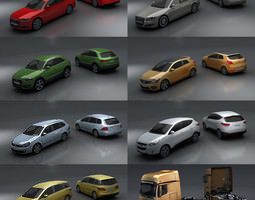 game-ready 3d asset 15 - city cars models