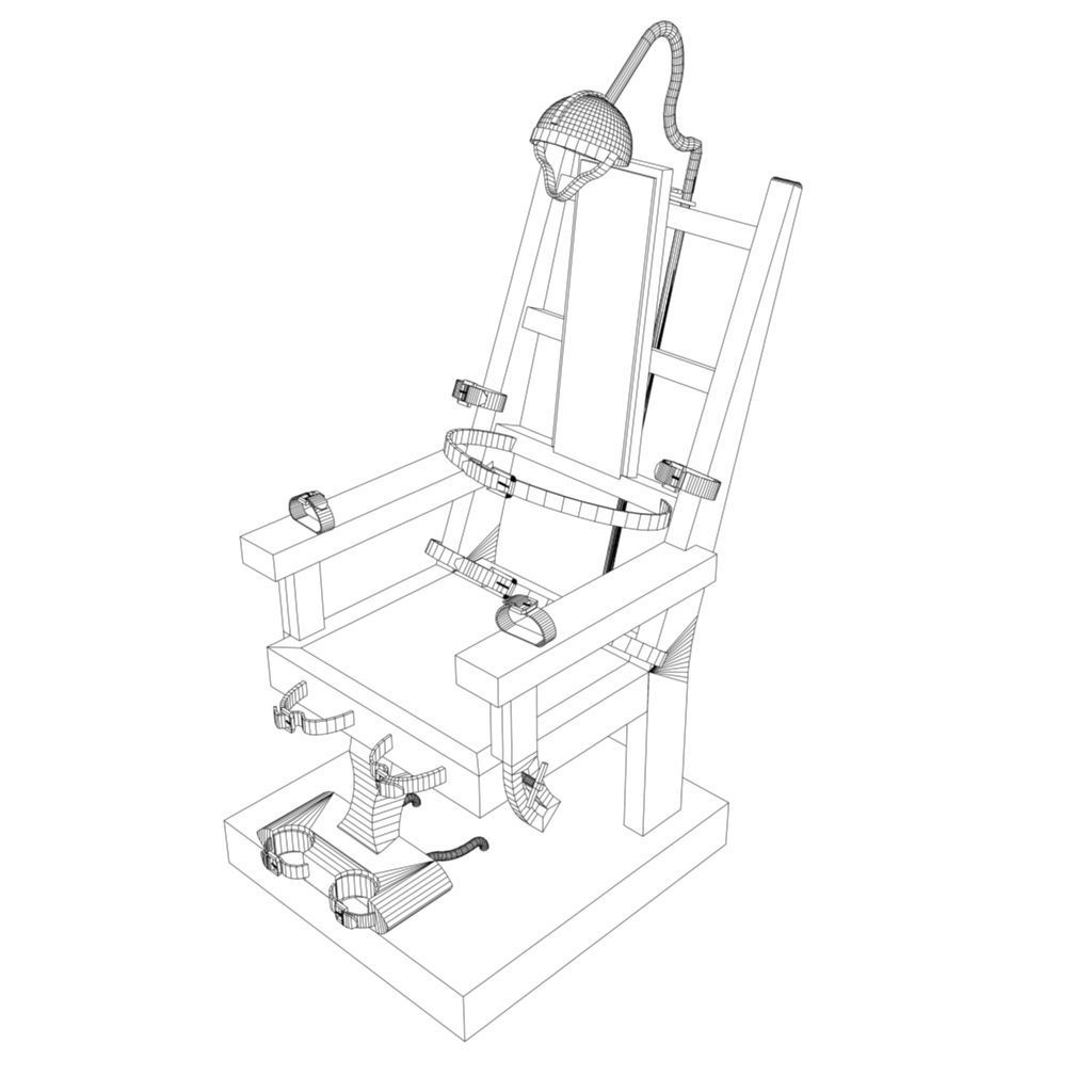 electric chair drawing. electric chair 3d model fbx ma mb 6 drawing