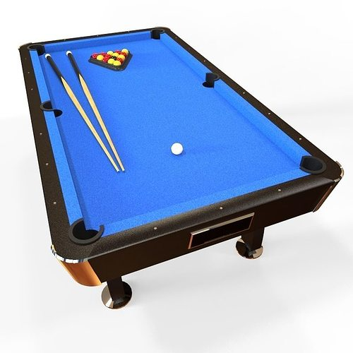 Classic Pool Table D Asset CGTrader - Classic billiard table