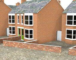 town houses 3D asset