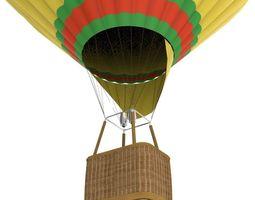 hot air balloon 3D model game-ready
