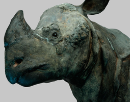3d asset rhino head VR / AR ready