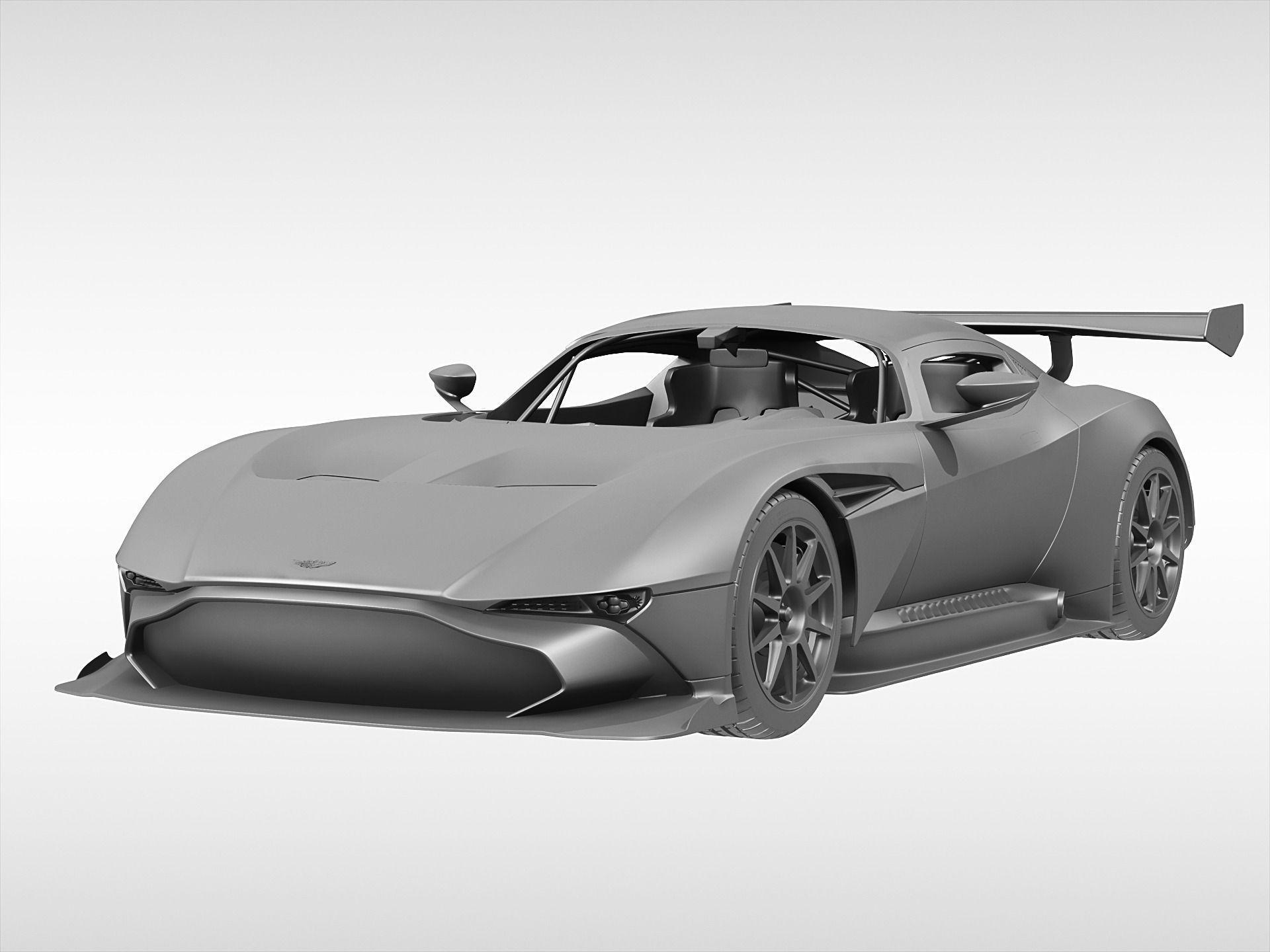 ... Aston Martin Vulcan 2016 3d Model Max Obj 3ds Fbx C4d Ma Mb 8 ...