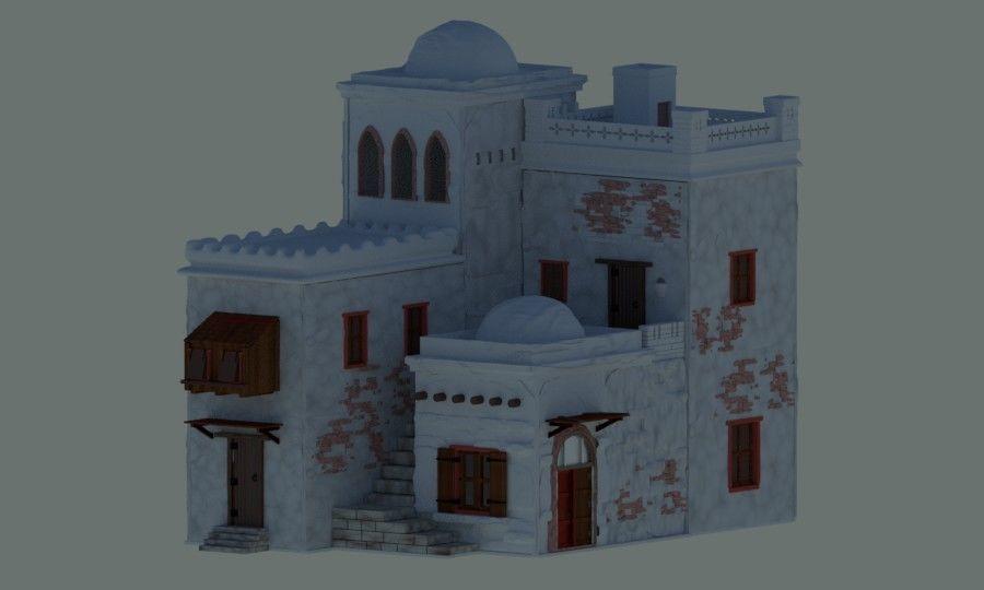 Kit 1 de casas de dioramas -  Kit 1 of dioramas houses