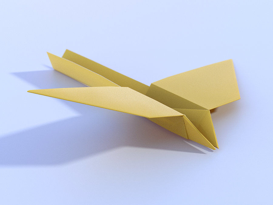 Paperplane 1 origami