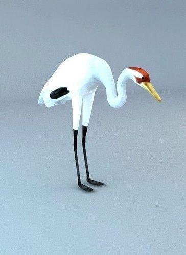 3d model bird stork 3d model low-poly max 1