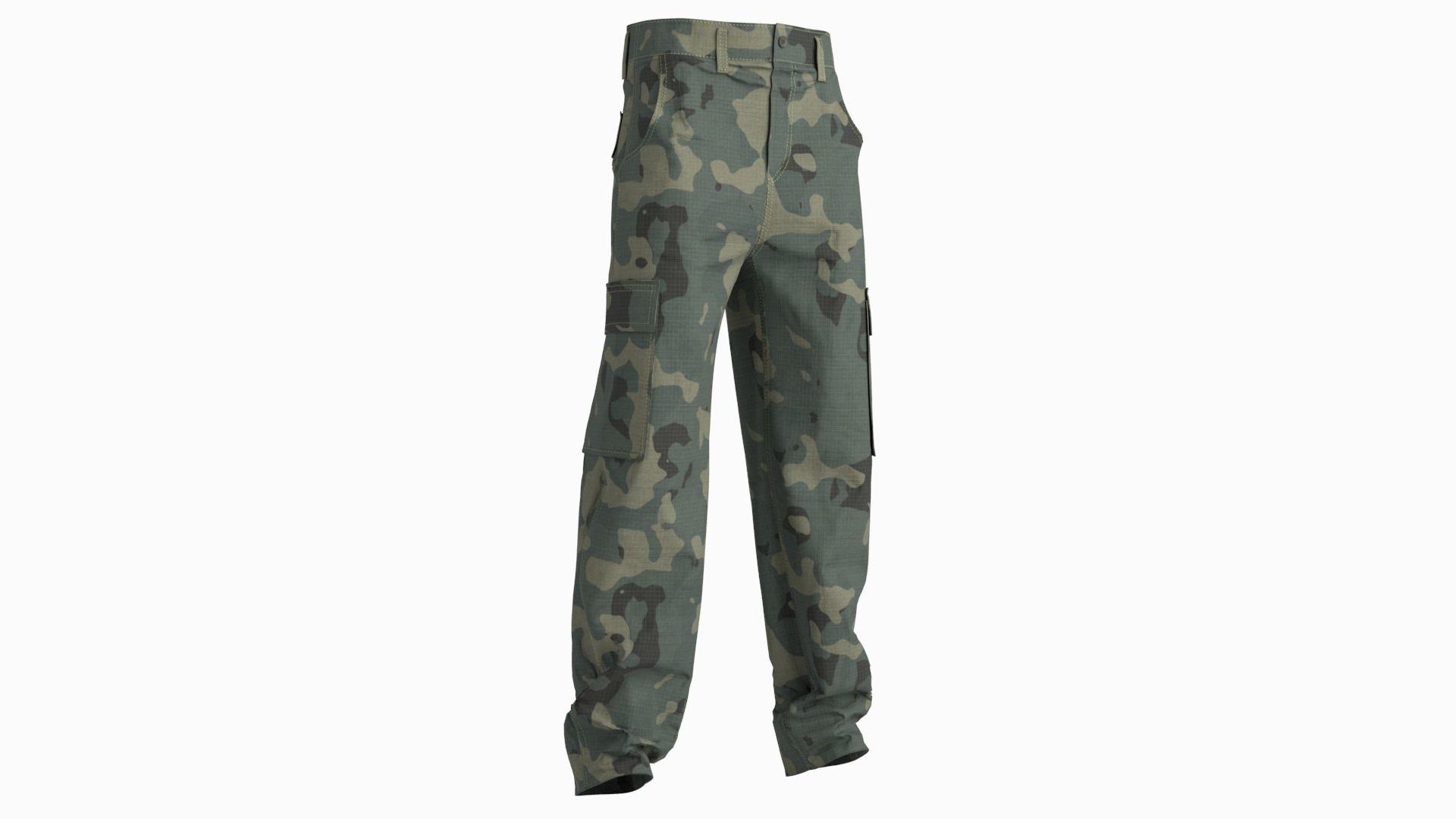 Cargo pants combat green