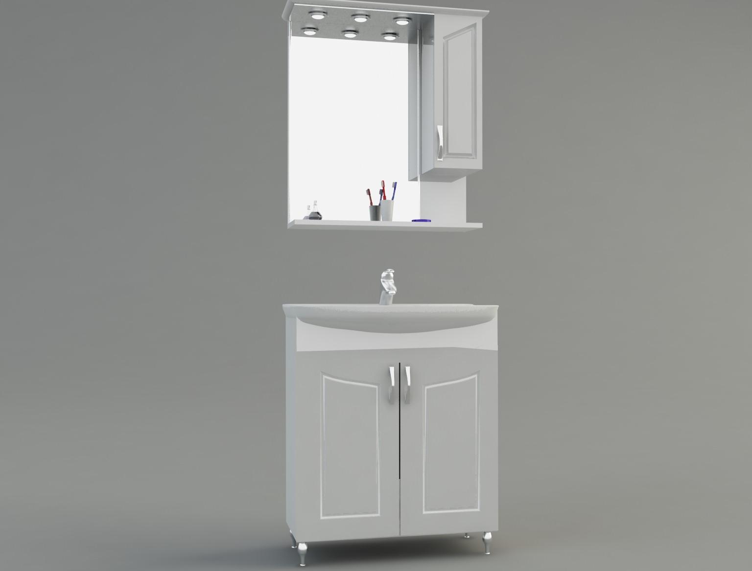 Bathroom Cabinet 3d Model Max