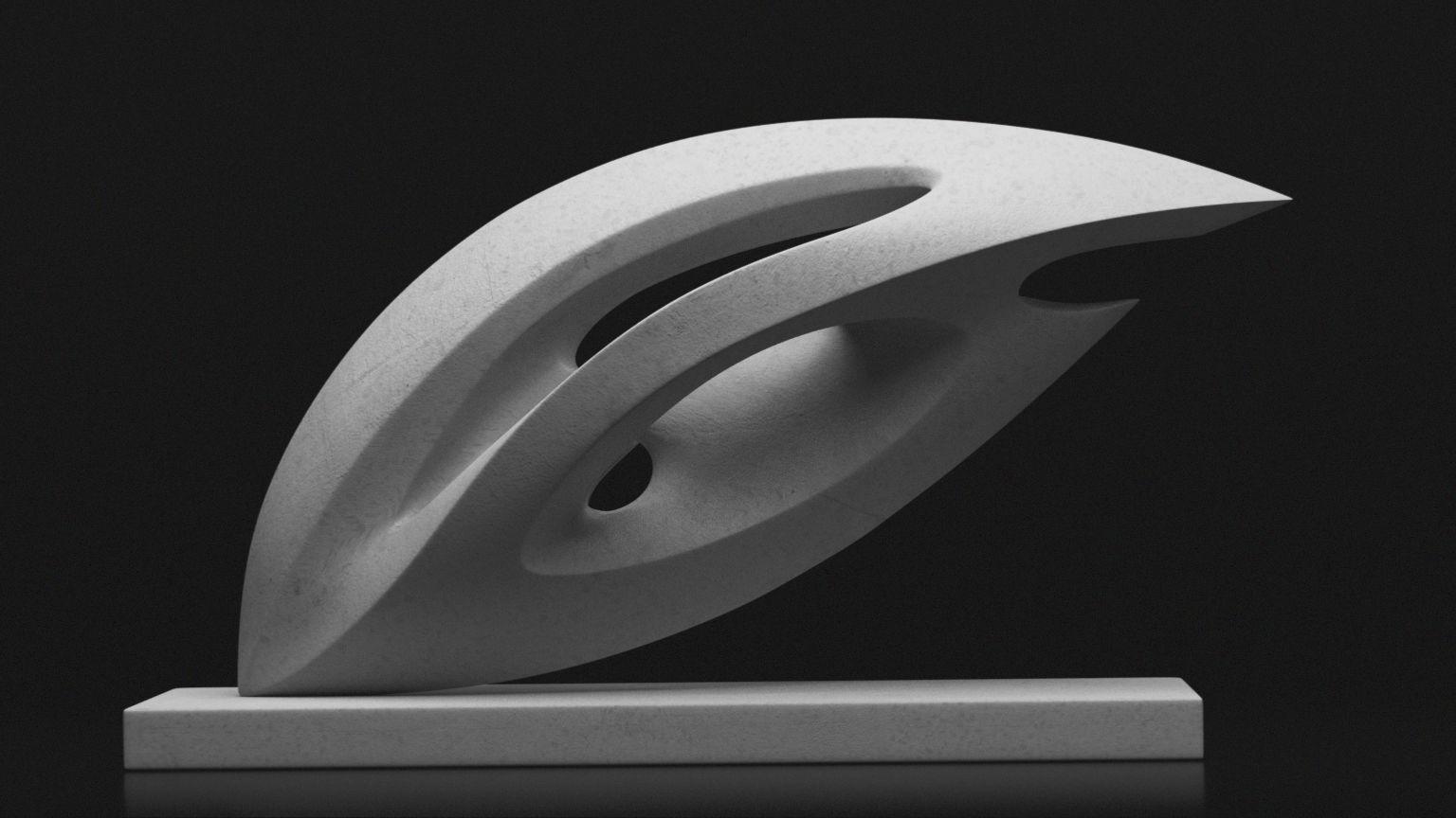 Modern abstract sculpture 021