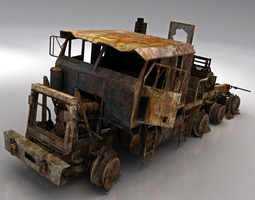 game-ready army wreck hets 3d asset