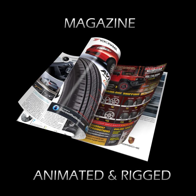 Magazine Opening Rigged Animated