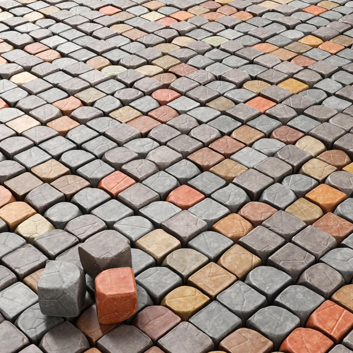 Cube stone granite decoration