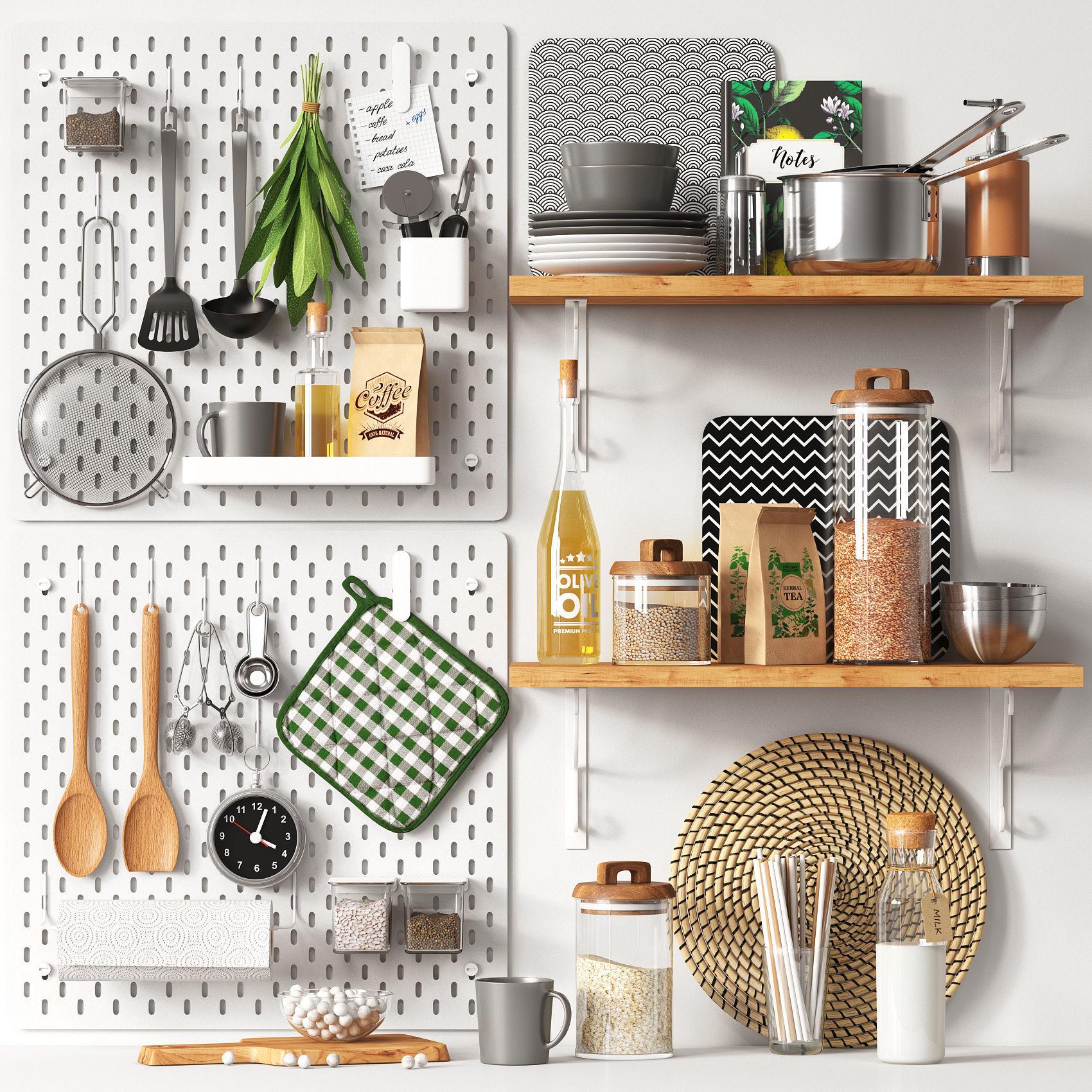 Oil 3d Kitchen Set Cgtrader