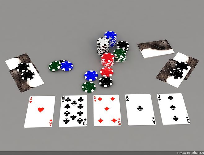 game cards 3d model max 1