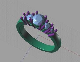 3D animated diamond ring