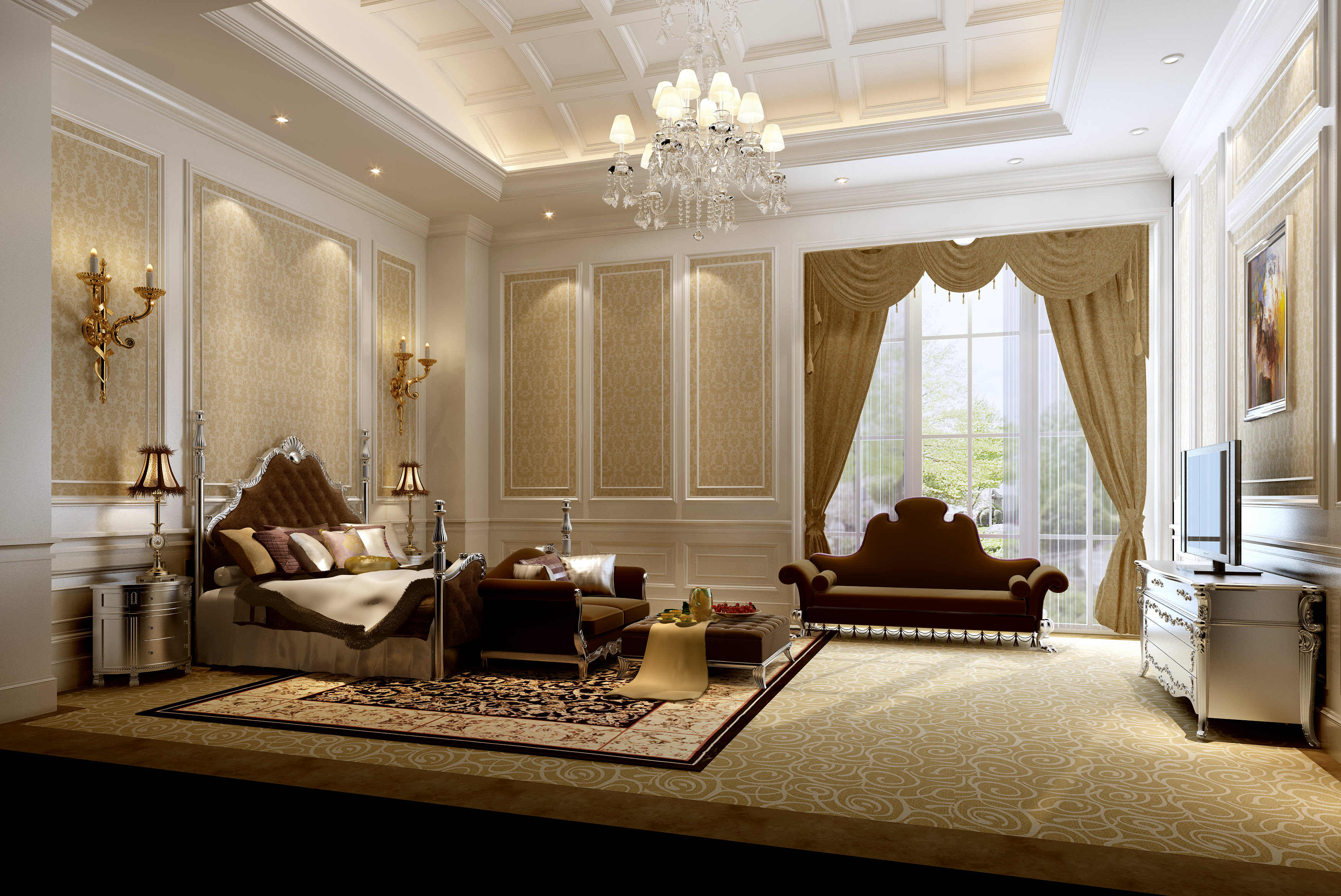 Very Luxury Bedroom D Model Max Cgtrader Com