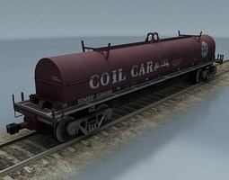 rail wagon 4 3D model