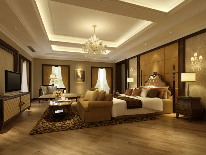 3d bedroom or hotel room cgtrader for 3d room design mac