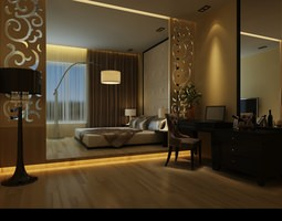 Comfortable Bed Room 3D model