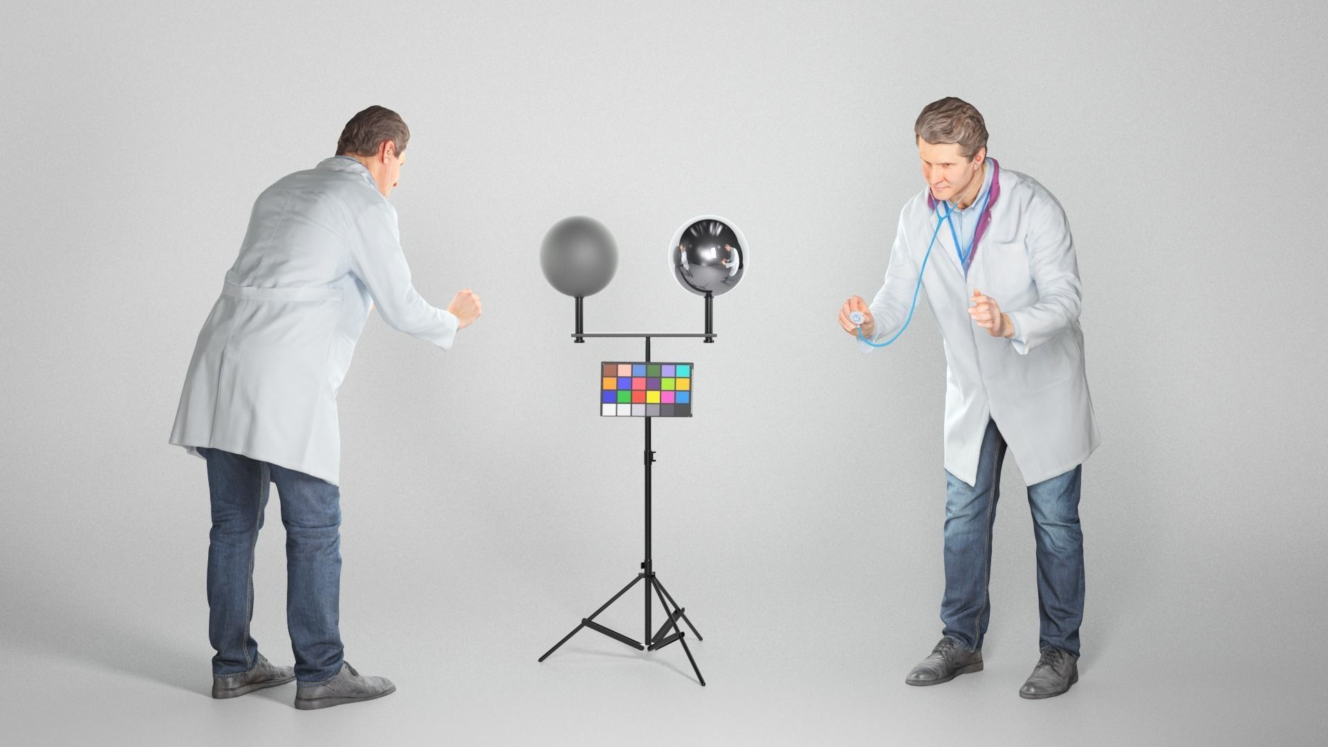 Medical doctor is using a stethoscope 68