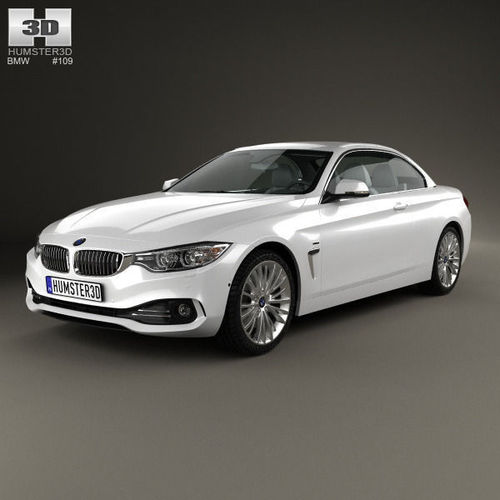 BMW 4 Series Convertible Luxury Line 2013 3D Model MAX OBJ