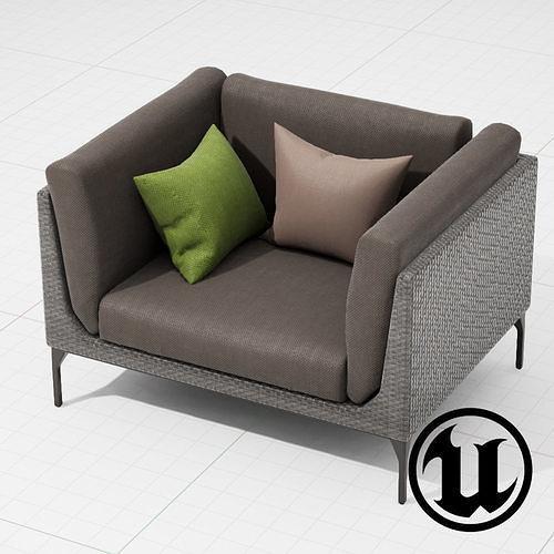 Dedon Mu Chair 001 UE4