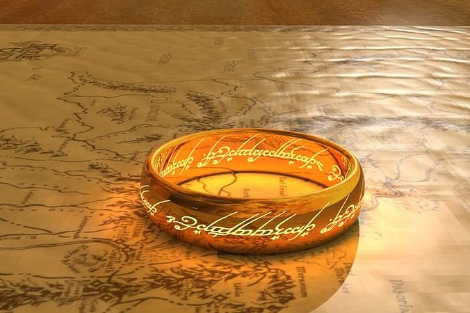 one ring- lord of the rings 3d model stl 1