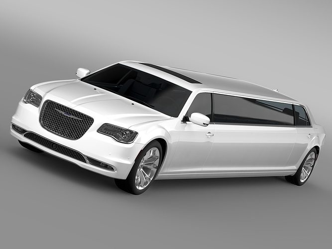 chrysler 300c platinum limousine lx2 2017 3d model max obj 3ds fbx c4d lwo lw lws. Black Bedroom Furniture Sets. Home Design Ideas