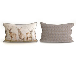 voyage cushion - deers -piped pillow 3d model