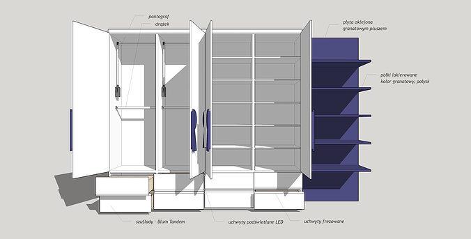 Modern wardrobe 3d model cgtrader for 3d wardrobe planner